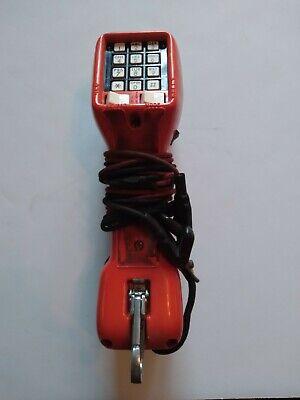 Harris  Draco Telephone Tester Touch Tone Buttset Ts21 Orange Blue.