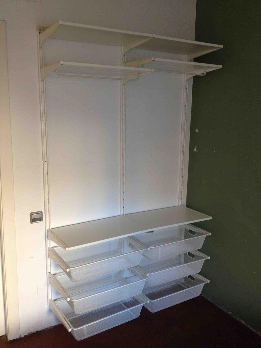 Sistema armario abierto algot ikea muebles for Compra muebles barcelona