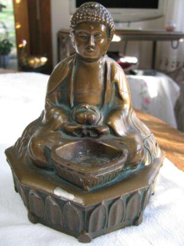 Vintage Bronze Finish Censor or Incense Burner-Temple of AL -CU