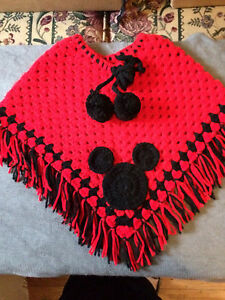 Crochet girls ponchos