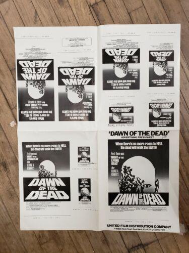 DAWN OF THE DEAD Advertising Press One Sheet 1978 George Romero Pressbook