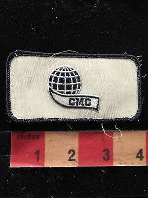 Vintage Cmc Brand Commercial Metals Company Advertising   Uniform Patch 81V9