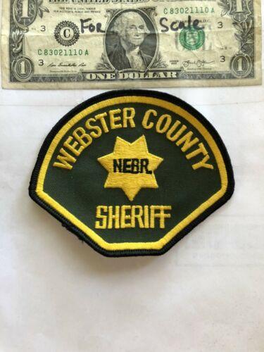 Rare Webster County Nebraska Police Patch ( Sheriff ) Un-sewn in great shape