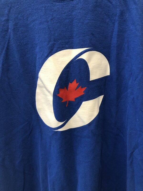 Vintage 2004 Conservative Party Of Canada Blue Campaign Shirt Men's Large Logo
