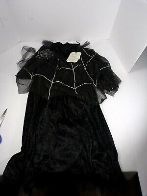 Pottery Barn Kids Black Spider Queen Kids Halloween Costume 7-8 Years Old  #6416