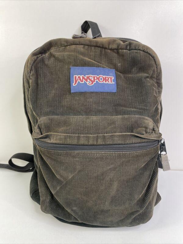 Vintage 90s Jansport USA Corduroy Brown Backpack Hiking School Travel