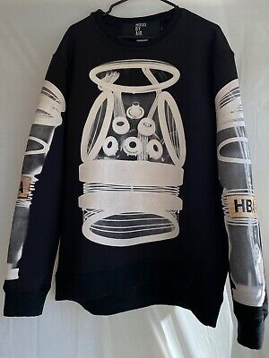 Hood By Air Hba Long Sleeve Black Mens Size L Polyester Spandex Material