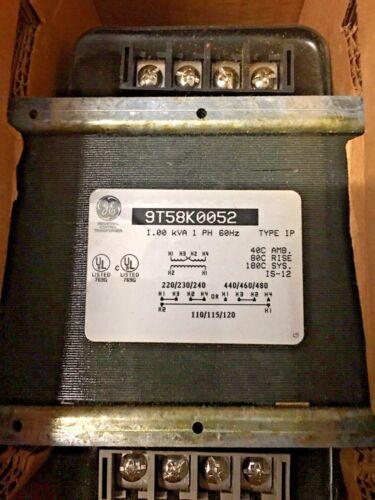 GENERAL ELECTRIC GE 9T58K0052 TRANSFORMER 1KVA 1PH NEW