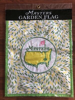2018 Masters Embroidered Golf Yellow Green White GARDEN FLAG Augusta National Augusta Yellow Green