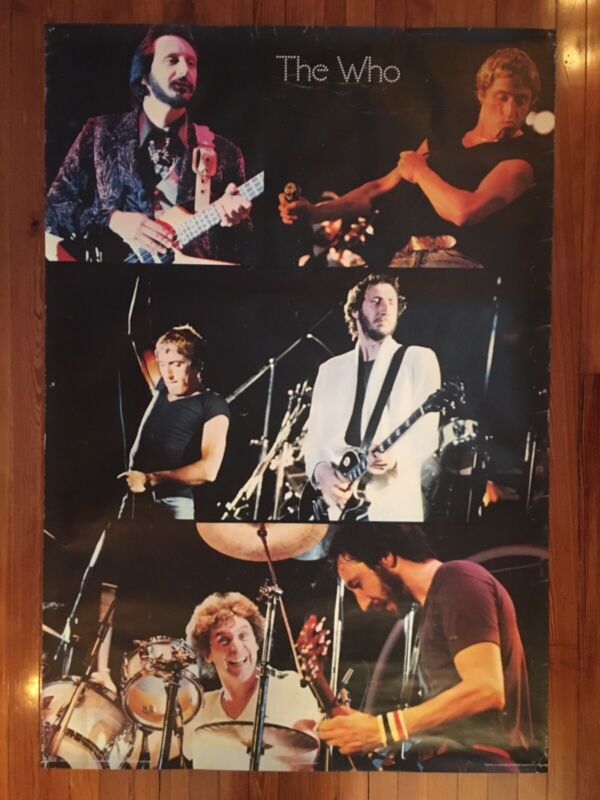 """The Who : Concert Poster - Original Vintage 1979 Pace  - Oversized 34"""" x 49 3/4"""""""