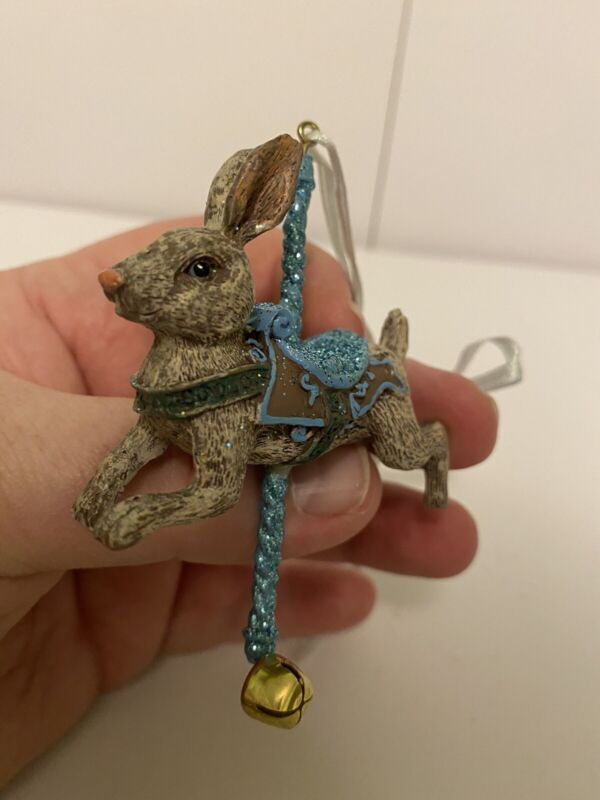 Katherine's Collection Carousel Rabbit Ornament