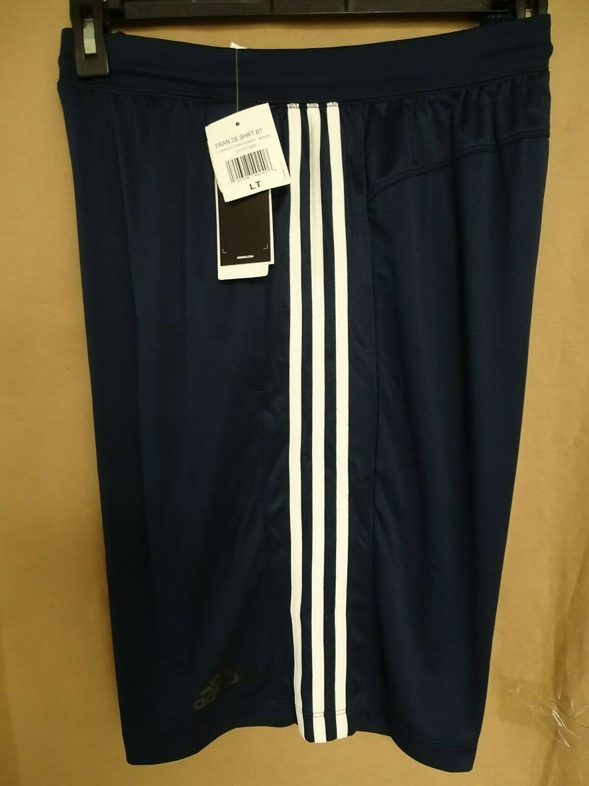 NEW adidas Mens Big & Tall Designed 2 Move Climalite Shorts 3 Stripe Blk/Gry/Nvy