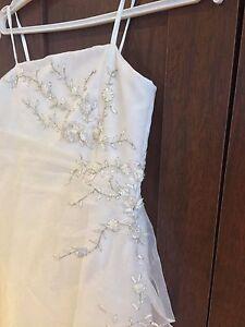 Robe de bouquetière blanche