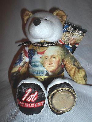 "Limited Treasures 9"" Patriotic Presidential George Washington Plush Stuffed Bear"
