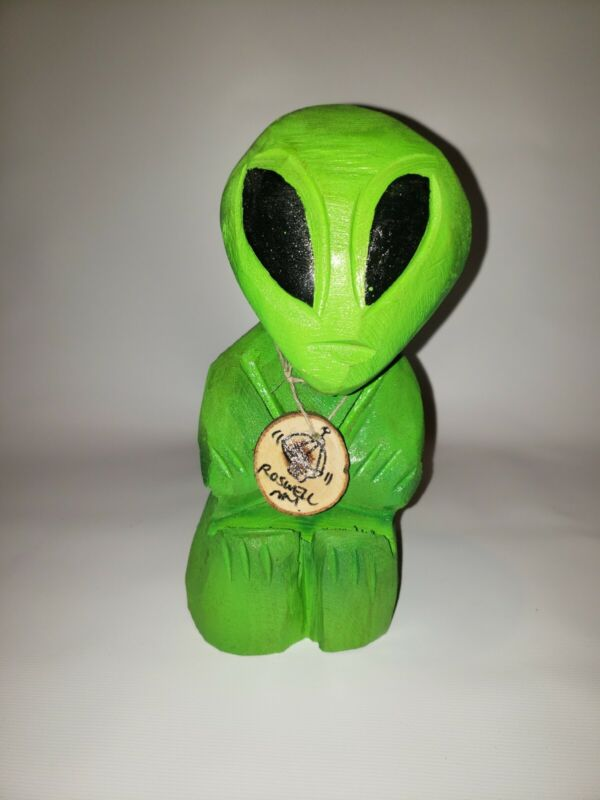 Roswell New Mexico Wooden Alien Souvenir (A2)