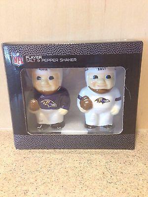 Baltimore Ravens NFL Ceramic Salt & Pepper Shakers, New In Box Baltimore Ravens Salt