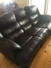 Leather recliner 3 seater Alberton Port Adelaide Area Preview