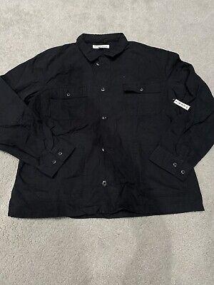 Amazon Essentials Men's Black Denim Jacket Size 2XL New With Tags