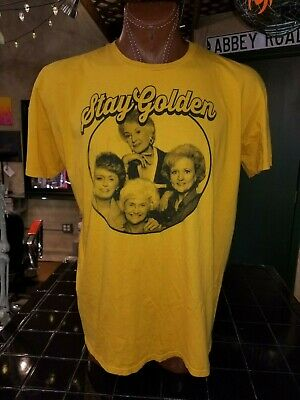 Stay Golden 2XL golden yellow Golden Girls t-shirt, American sitcom from the 80s](Girls From The 80s)