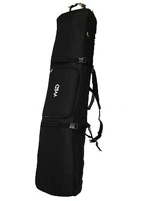 17d0319c21 Fully Padded Travel black Ski Snowboard Bag with Wheels Wheeled WSD 155cm