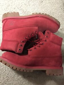 Timberland Boots (red) Size: 9.5 Mens