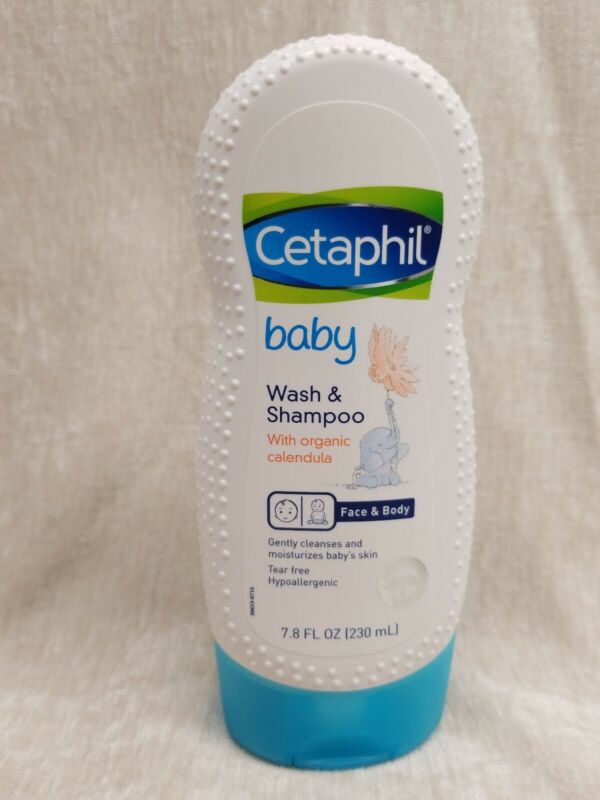 Cetaphil Baby Wash & Shampoo, Calendula, 7.8 fl oz 2 PACK