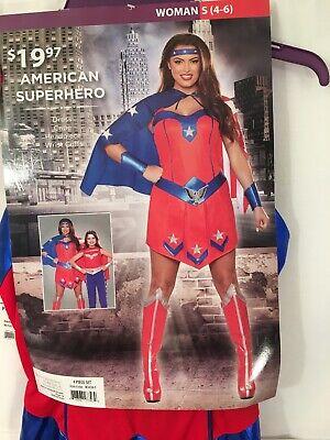 American Super Hero Womens  Dress Halloween Costume Size S ()