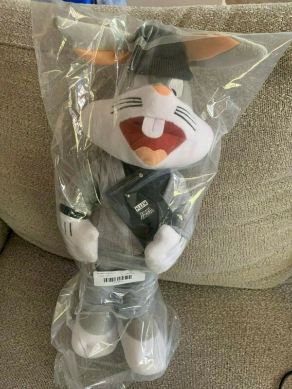 KITH x LOONEY TUNES BUGS BUNNY PLUSH GREY LIMITED 100% AUTHENTIC