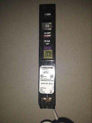 Square D Qo120df 20 Amp Single-pole Dual Function Circuit Breaker Arc Fault