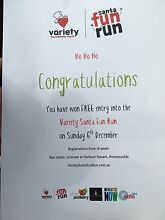 Double pass to the Variety Santa Fun Run Maryland 2287 Newcastle Area Preview