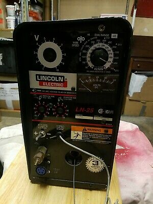 Lincoln Portable Ln-25 Wire Feed Welder Complete With Gun Wire Nice Condition