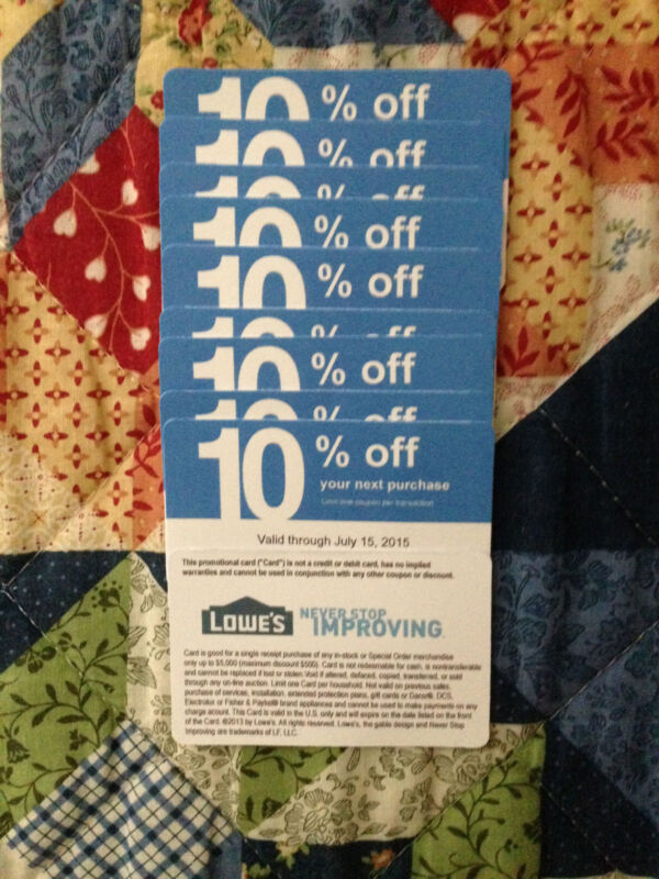 Twenty (20x) Home Depot only 10% Coupons for Exp DECEMBER 15, 2021