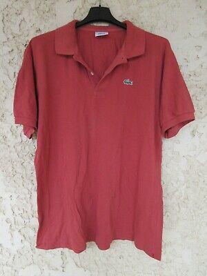 Polo lacoste devanlay brique coton jersey manches courtes taille 5