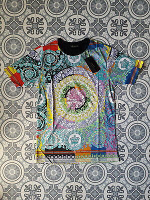 T-SHIRT TOP NEW VERSACE TAGS COTTON CAMISETA HEMD TEE SIZE