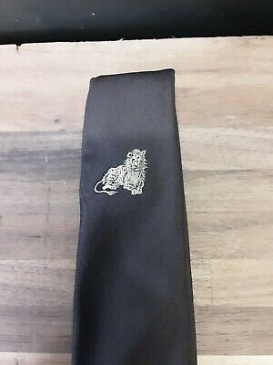 1960s – 70s Men's Ties | Skinny Ties, Slim Ties VTG  1960s Black/Brown with signal Lion design Retro thin 2 inches $13.00 AT vintagedancer.com