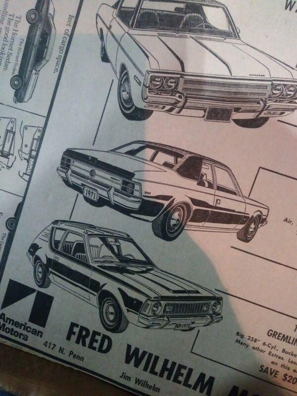 amc ad gremlin x 360 hornet sst vintage matador 71 american motors poster dealer