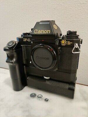 *MINT* Canon New F1 1984 L.A. Olympics Special Edition w/ Extras
