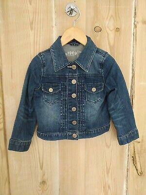 BABY GAP girls blue denim jean jacket coat age 3 years
