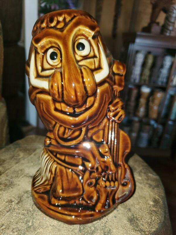 Tiki Farm Mug P. Tilikete 2013 Rock-a-hula Hulabilly  Ceramic Brown 16 Oz