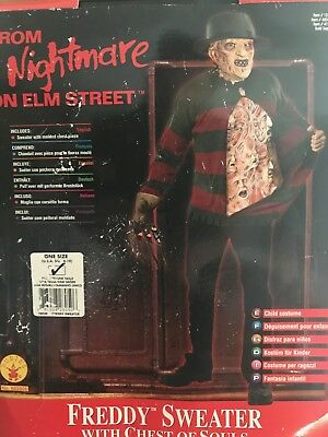 NIGHTMARE ON ELM STREET FREDDY CHILD SWEATER WITH CHEST OF SOULS (8-10) RUBIES](Freddy Chest Of Souls)