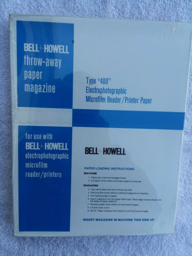 NOS Bell & Howell Type 400 Electrophotographic Microfilm Reader Printer Paper