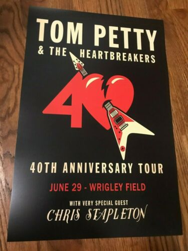 Tom Petty & Heartbreakers 40th Anniversary Tour Wrigley Field Concert Poster