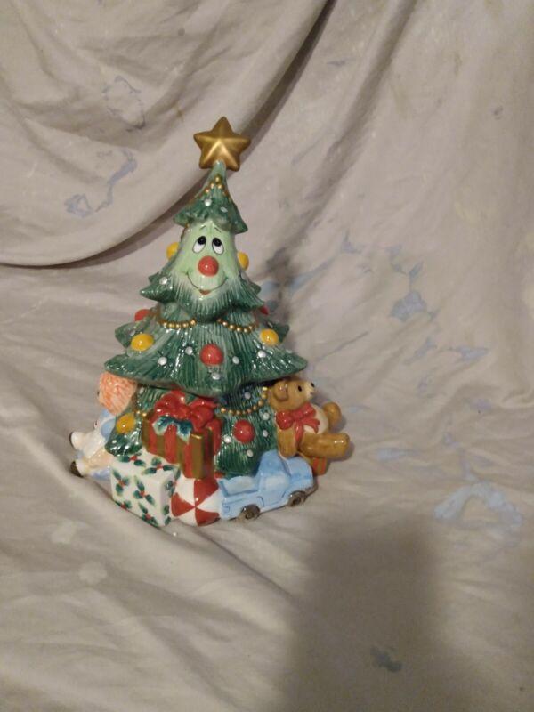 Vintage Fitz and Floyd Wee Christmas Tree Cookie Jar