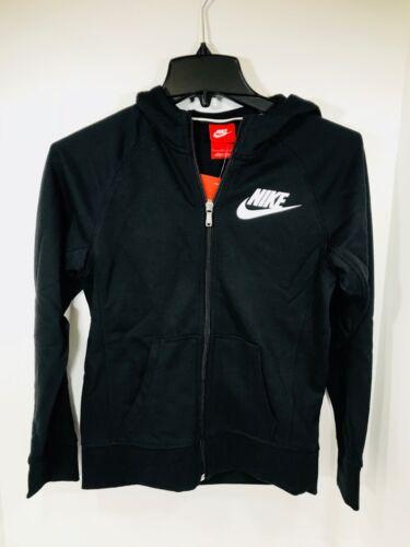 *New* Nike Girls Black Cotton Full Zip Jacket/Hoodie MSRP $55, 839473-010