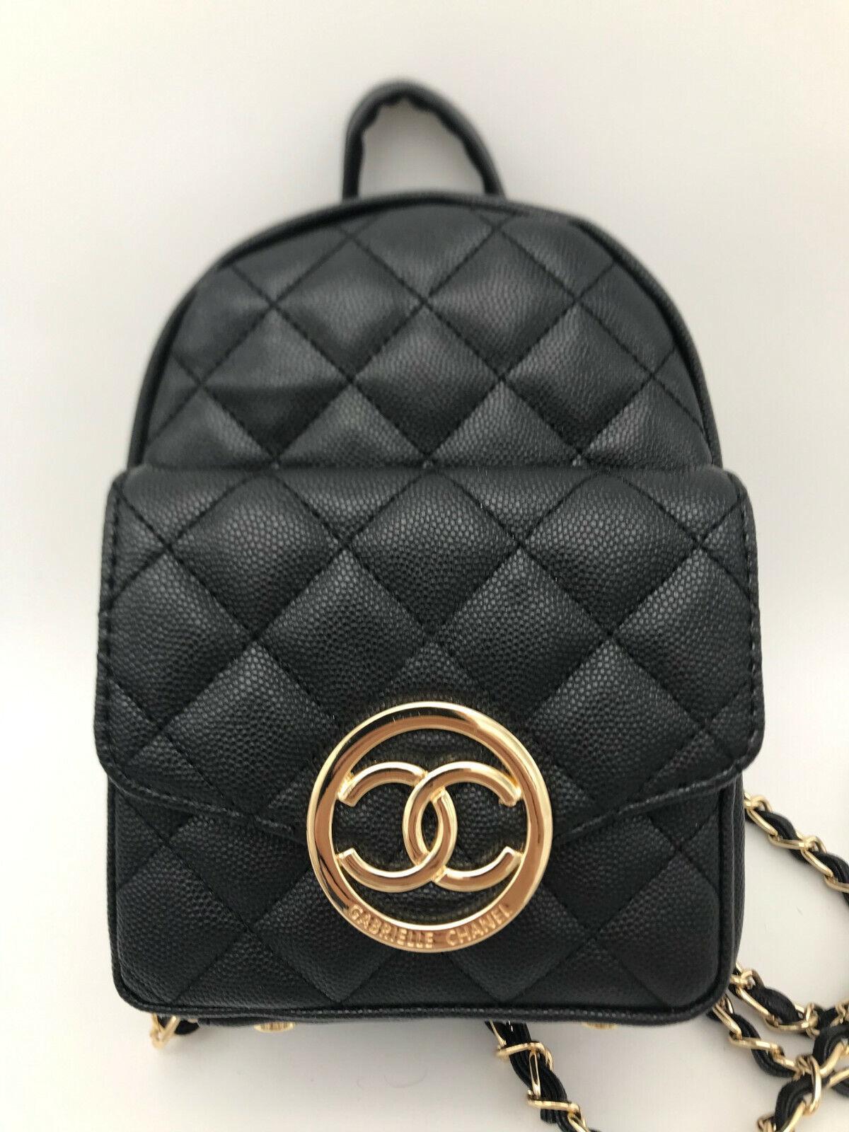 cosmetic make up bag leather backpack shoulder