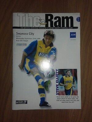 DERBY COUNTY V SWANSEA CITY 22ND SEPTEMBER 1999 LEAGUE CUP