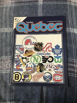 RARE 1979 HARTFORD WHALERS NHL PROGRAM 7TH GAME IN HISTORY QUEBEC NORDIQUES -