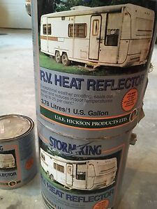 R. V. Heat reflector and sealant