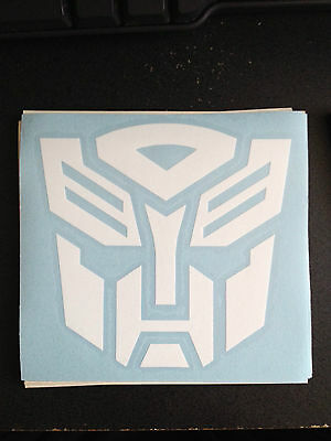 "Transformers Autobots Sticker Decal 5"" w x 5"" h - Many Colors Available"