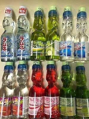 Ramune Toko Japanese Soda 6.76 oz Carbonate Marble Soft Drink, (All Flavor) ! ()